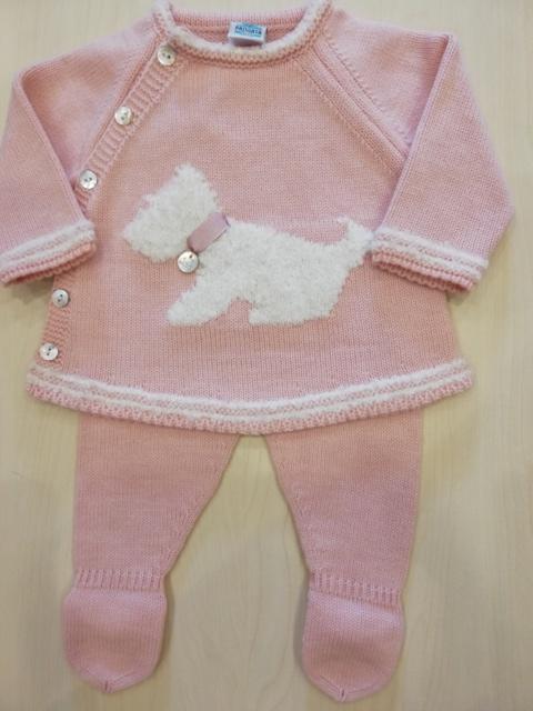 CConjunto polaina perrito rosa