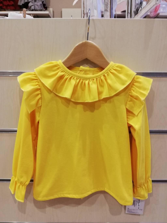 camiseta volantes amarillo