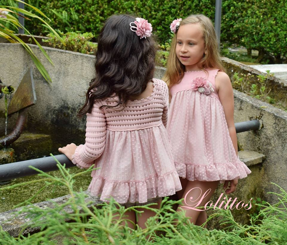 Conjunto rosa palo bluson Lolittos