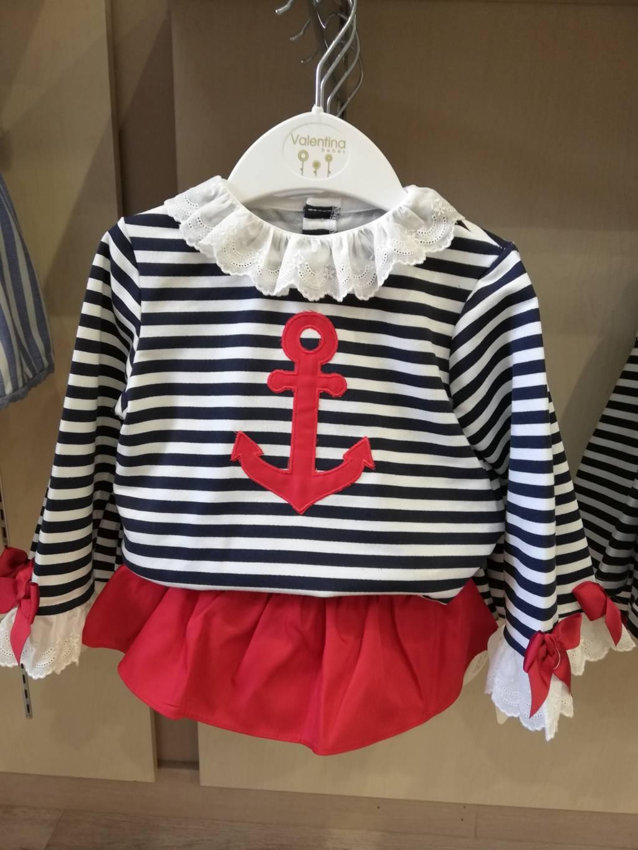 Conjunto 2 pzas marinero niña