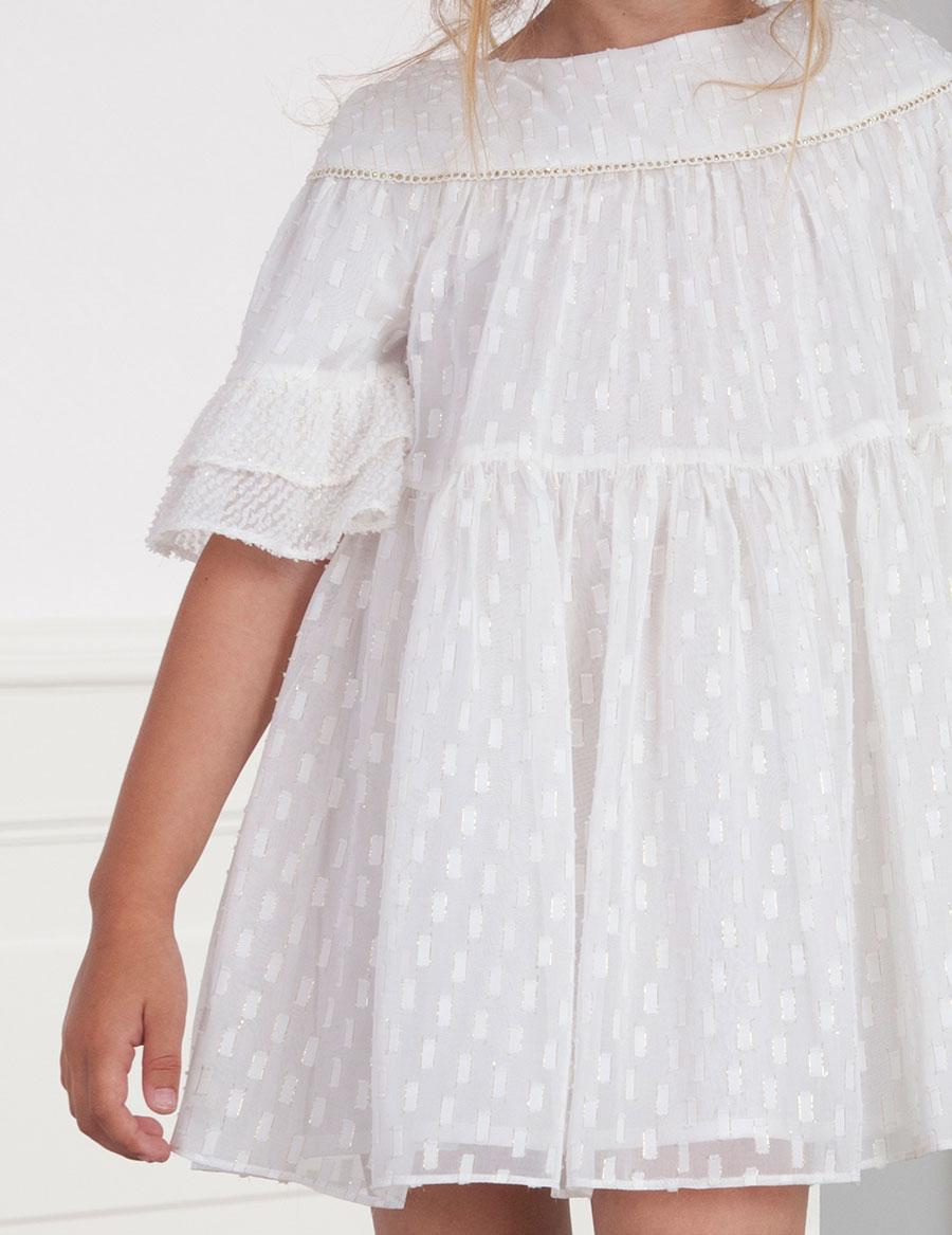 vestido abel&lula blanco roto