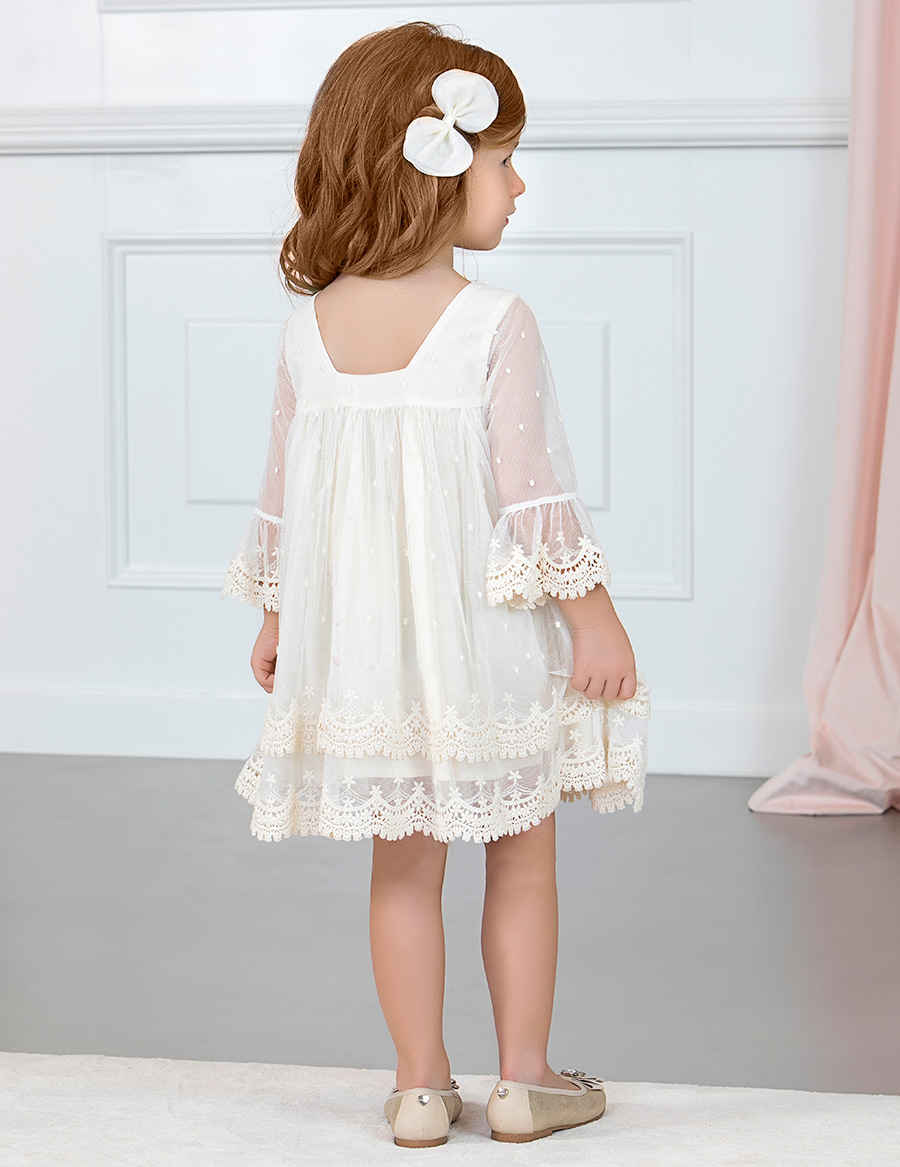 vestido tulñ bordado fantasia