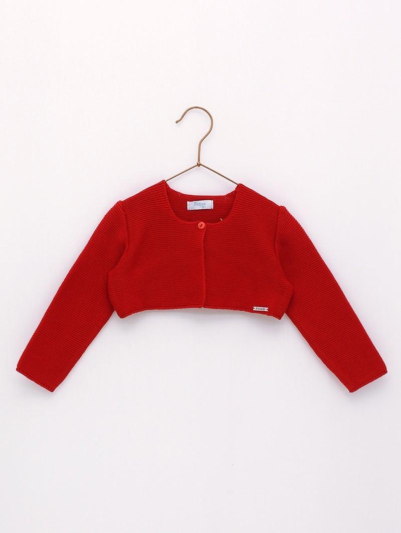 chaqueta corta roja foque