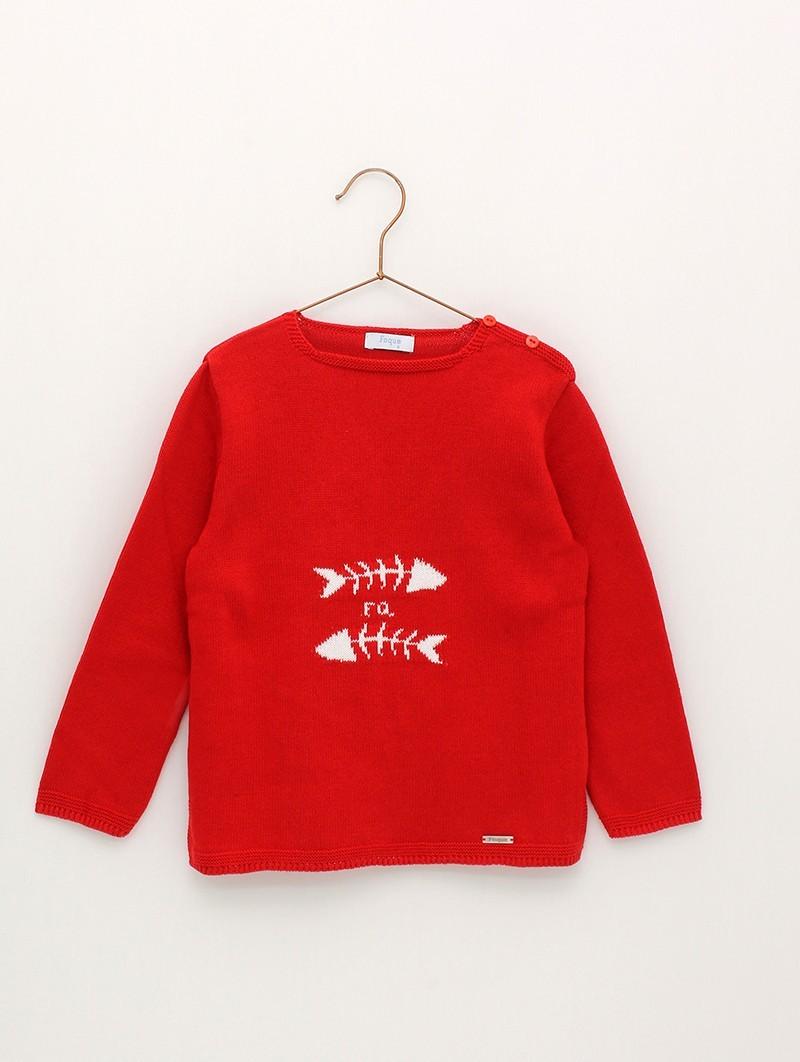 Jersey raspas rojo foque